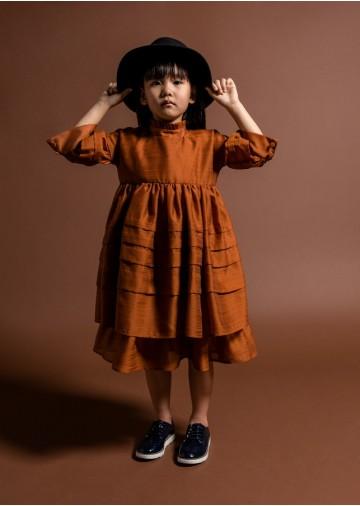Black Label Layered Voile Dress