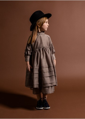 Black Label Layered Voile Dress
