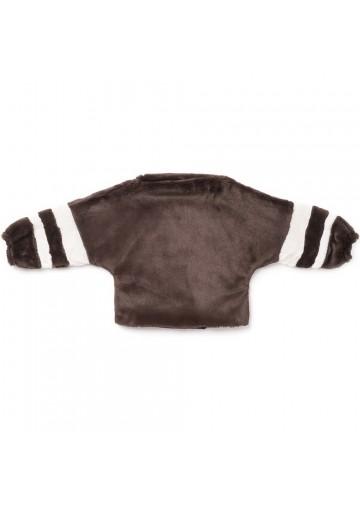 Dolman Sleeve Faux Fur Sweater