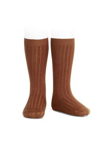 Ribbed Knee High Socks